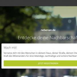 Nachbarn finden sich online: www.nebenan.de