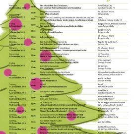 """Von """"Oh Tannenbaum"""" bis """"Morgen kommt der Weihnachtsmann"""" – Der Lebendige Adventskalender 2016"""